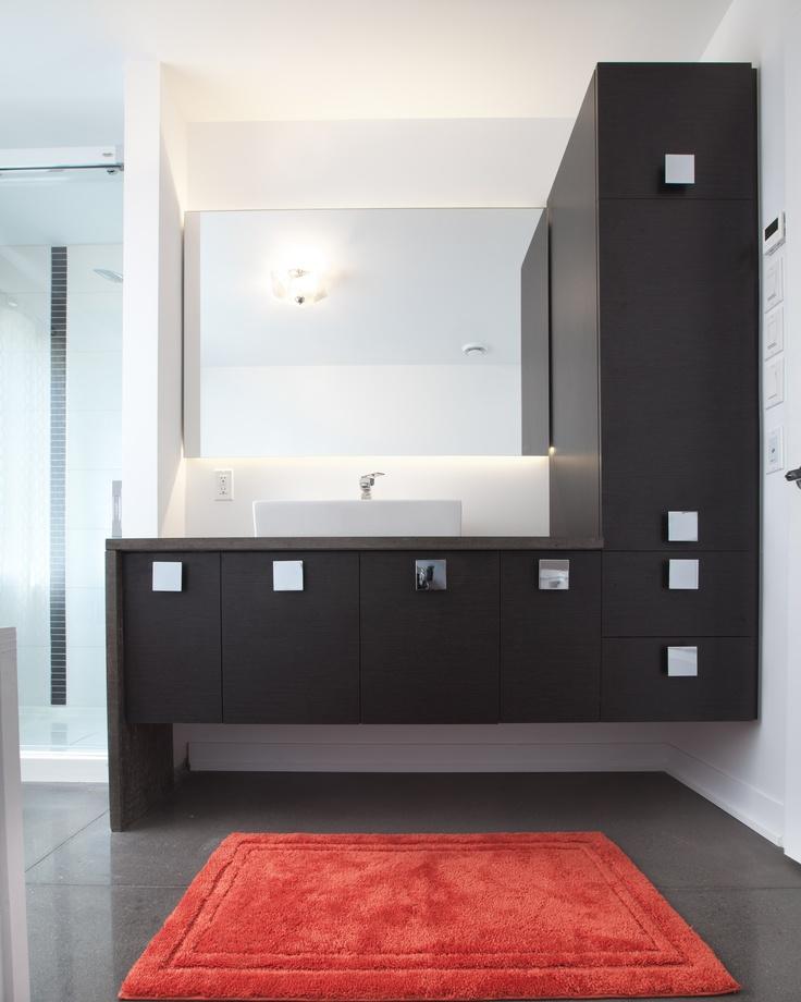 Modèle yucca salle de bain avec comptoirs de béton