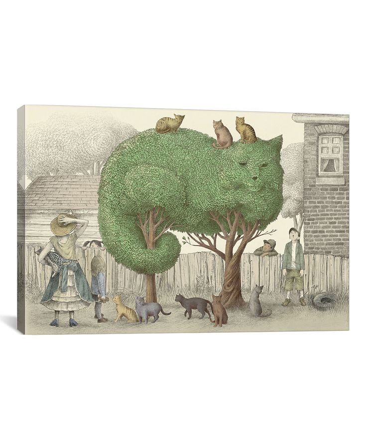 Eric Fan The Cat Tree Wrapped Canvas