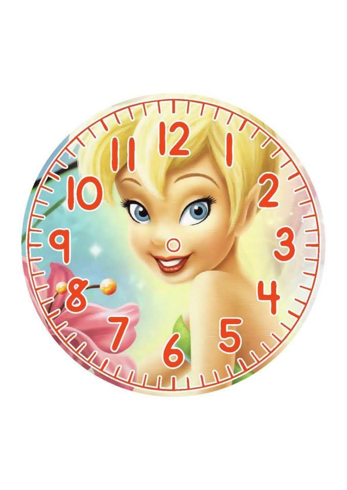 .tinker bell .clock face