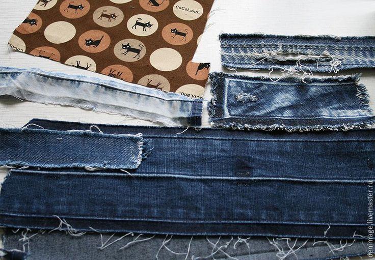 Шьем оригинальный джинсовый браслет - Ярмарка Мастеров - ручная работа, handmade