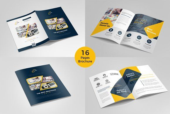 Brochure Template - 16 pages  @creativework247