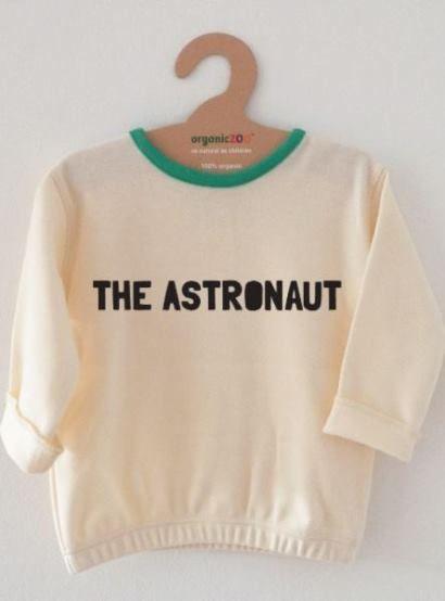 organicZOO ØKOLOGISK babybluse 'The Astronaut', creme
