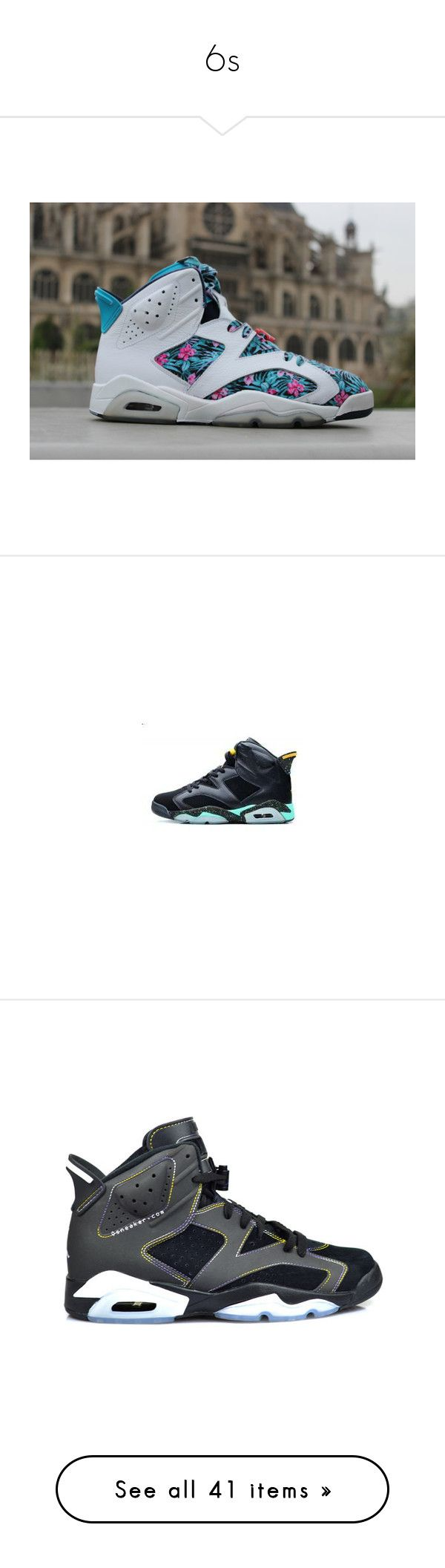 """""""6s"""" by sugartrap ❤ liked on Polyvore featuring shoes, jordans, sneakers, air jordan 6, kid shoes, retro sneakers, retro style shoes, retro trainers, retro shoes and shoe game"""