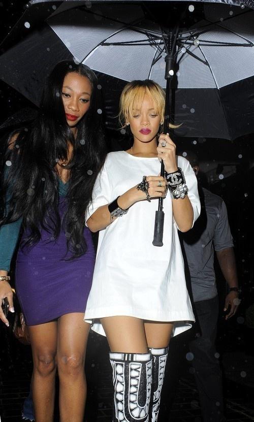 Rihanna arriving at Cuckoo Night Club in London on June 15, 2013