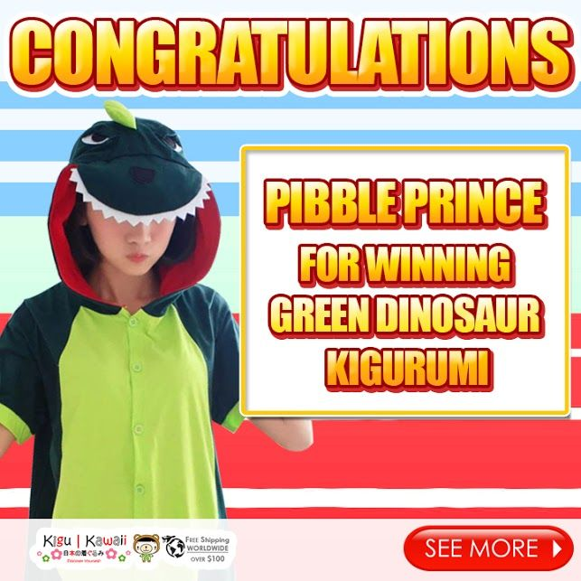 Our Adorable Spring Kigurumi Giveaway winner is finally here! (◍•ᴗ•◍)♥ Congratulations to Pibble Prince for winning Green Dinosaur Spring Kigurumi! Please kindly message us on support@kigukawaii.com on how to claim your prize.  Our endless thank you to everyone who supported our giveaway! With so much gratitude, we would like to give everyone who participated the contest a discount code!   Here's your 10% discount #KiguKawaii lovers!  Coupon code: LoveKiguKawaii
