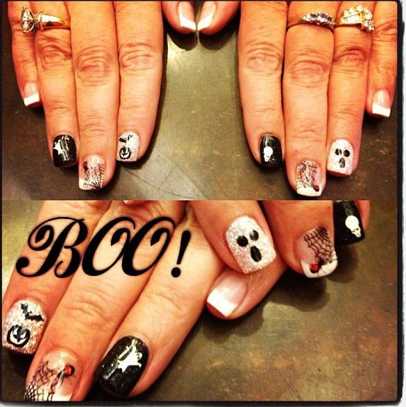 Halloween boo nails | Halloween nails, Nails, Hair and nails