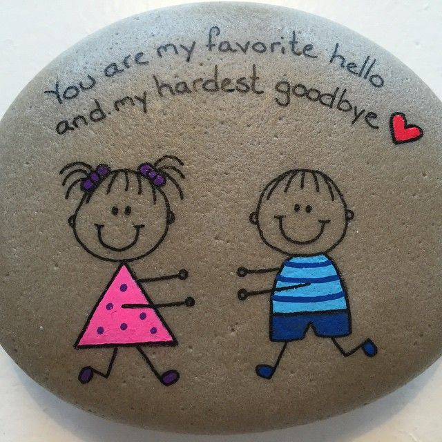 #artrocks #cute #drawing #girl #happy #heart #handmade #happyrocks #inlove…