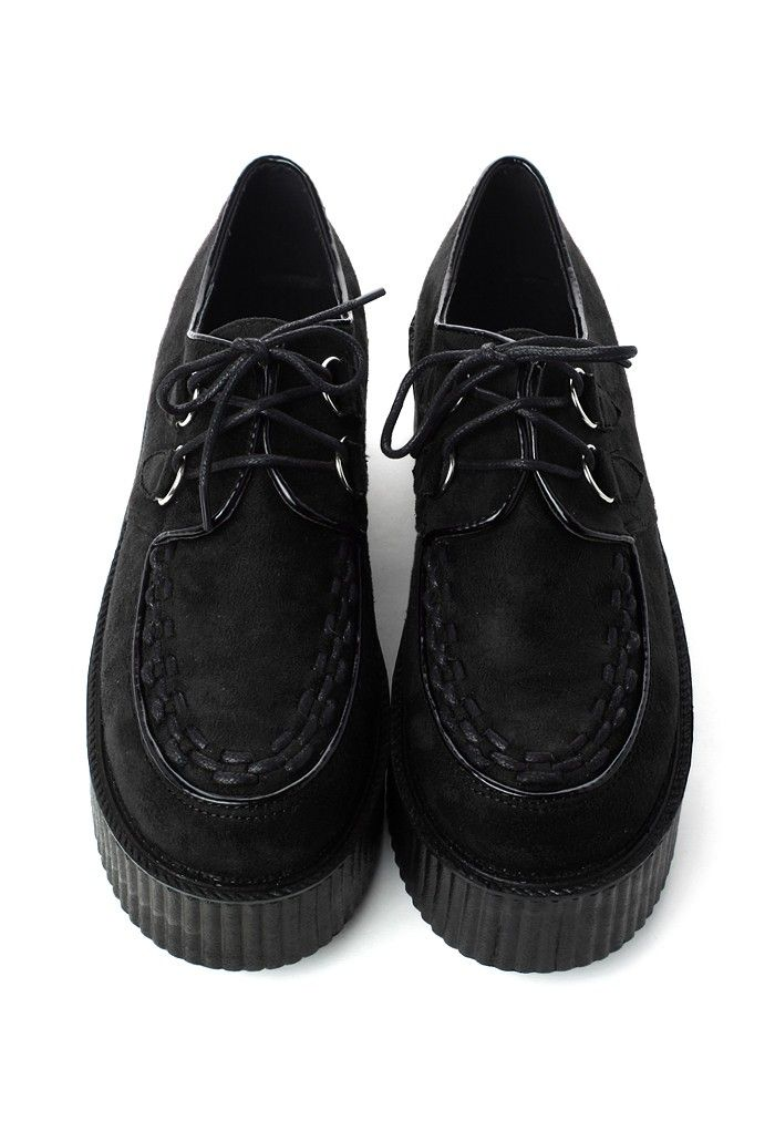 Creeper Platforms Shoes in Black