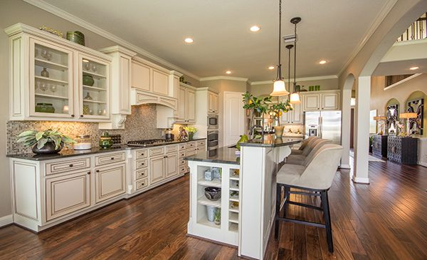 Gourmet kitchen by village builders a lennar luxury for Gourmet kitchen designs