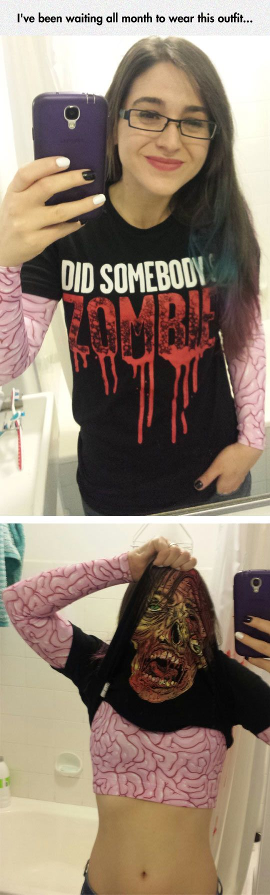 Instant Zombie T-Shirt Costume