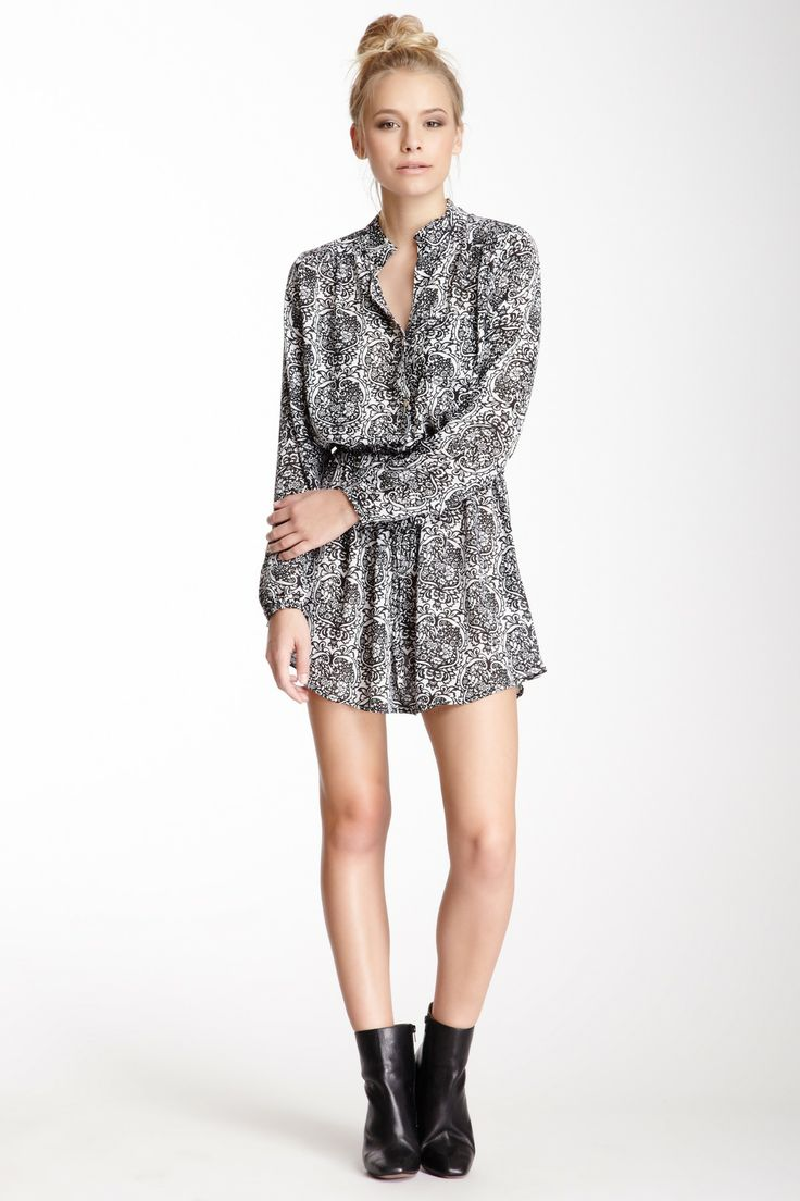 Cute! Printed Tunic Dress to just throw on & go & still be in style!
