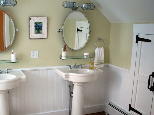 OPEN UP FLOOR SPACE with a pedestal sink, making the room seem bigger. Great