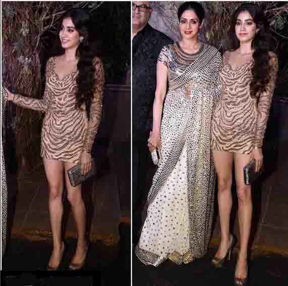 Jhanvi Kapoor ,Sredevi's Daughter In An Embroidered Dress ,In A Function In Bombay .For This Dress Mail Us contact@ladyselection.com