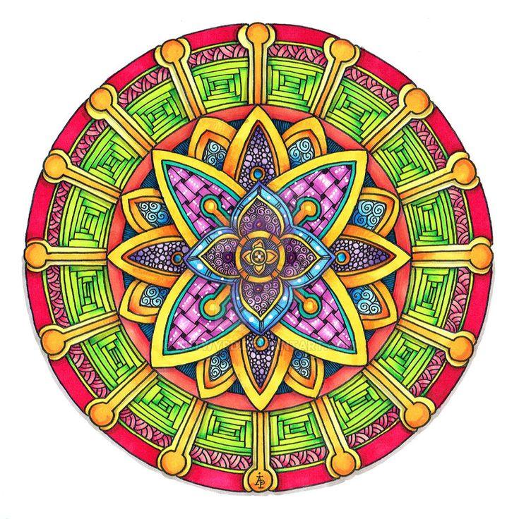 Coloured Version of Mandala 29 June 2014 by Artwyrd on DeviantArt