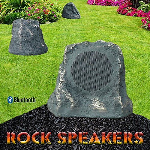 Bluetooth Outdoor Rock Speaker (Grey Slate) – Stereo pair by Sound Appeal  These stunning Bluetooth Rock speakers from Sound Appeal are a leap forward in technology. Thanks to Sound Appeal you no longer need to be tied down to your indoor sound system to control your outside music. With these speakers from Sound Appeal you can wirelessly stream music up to 100ft directly from your Iphone and or compatible Bluetooth device. You will be able to fill your backyard or pool area with high..