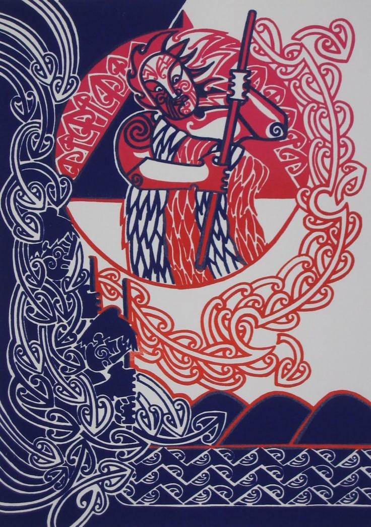 te maari gardiner-ngata  hika ra taku ahi-strike my fire  screenprint 2010