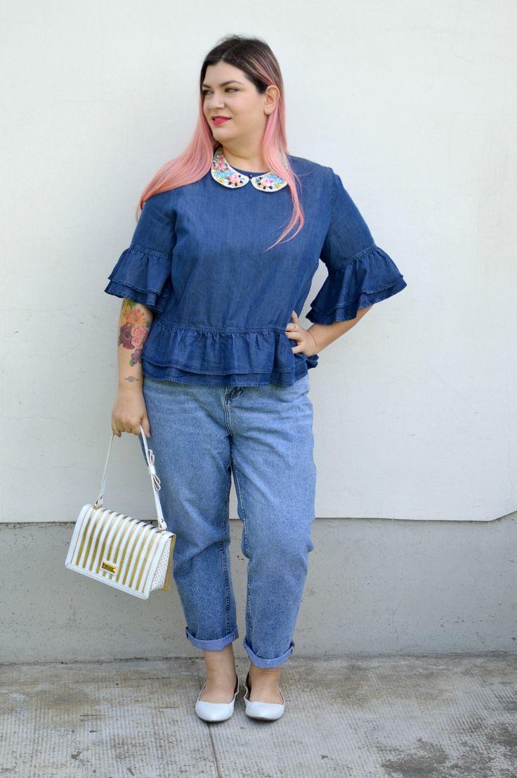Outfit: denim su denim | Plus... Kawaii! - A plus size fashion blog #plussize #outfit  #denim