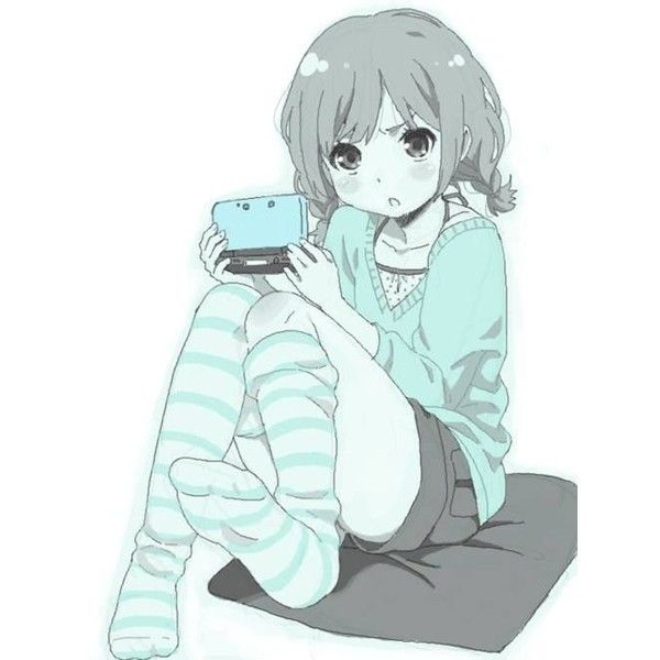 anime girl cute anime pics ❤ liked on Polyvore featuring anime, anime pics, backgrounds, filler and people