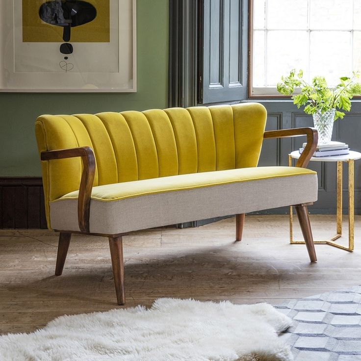 Dreipunkt Designer Leather Sofa Mustard Yellow Two Seat: 17 Best Ideas About Mustard Yellow Kitchens On Pinterest