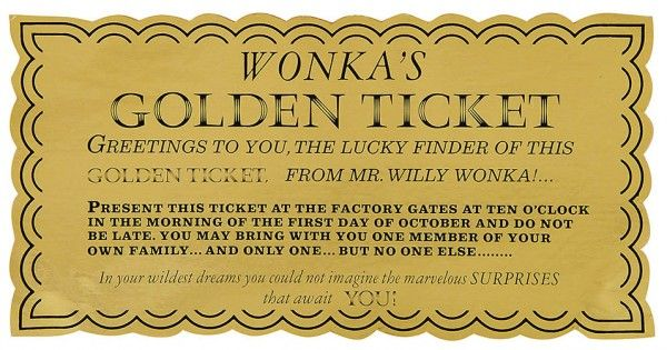golden ticket willy wonka set school -