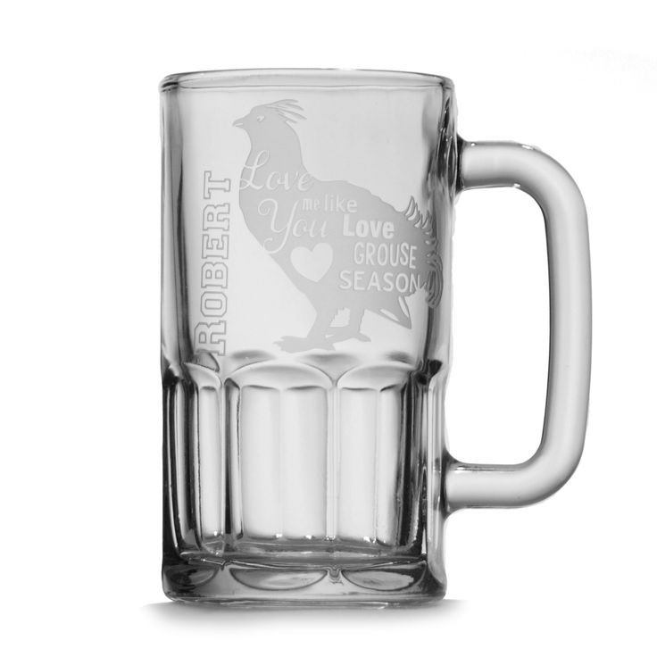 Personalized Beer Stein - Love Me Like You Love Grouse Season Mug | Wedding Party Gift | Perfect Guy Gift | Birthday Beer Stein - pinned by http://pin4etsy.com