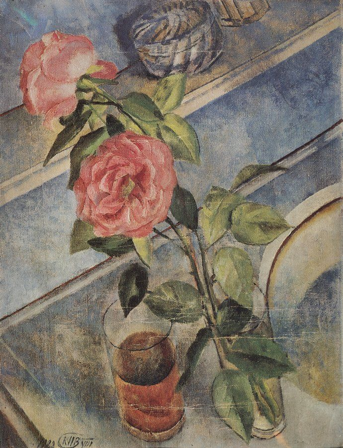 The Athenaeum - Still Life with Roses (Kuzma Petrov-Vodkin - )
