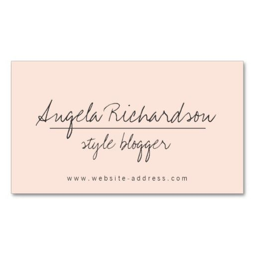 50 best images about Fashion Blogger, Style Blogger Business Cards ...