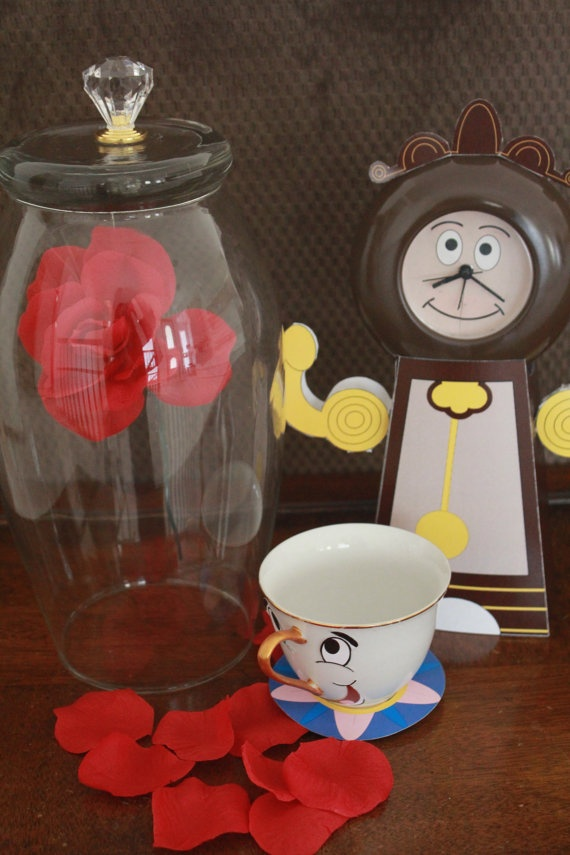 Decorations & Favors - Beauty and the Beast's Printable Cogsworth the Clock