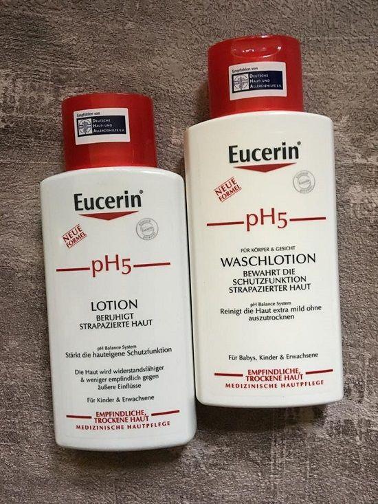 Eucerin pH5 Waschlotion und Lotion – Probenqueen