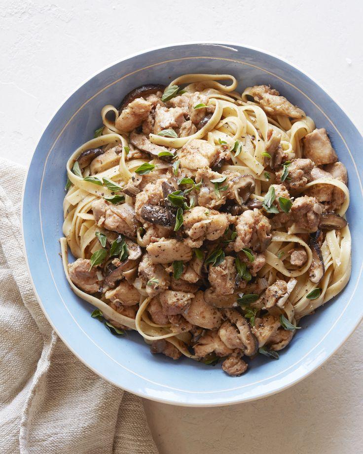 Mushroom Chicken Marsala Pasta from www.whatsgabycooking.com (@whatsgabycookin) - What's Gaby Cooking