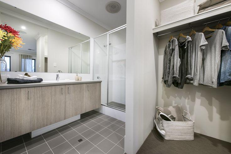 Walk in robe & main bathroom - Homebuyers Centre Display Home - Ellenbrook, WA Australia