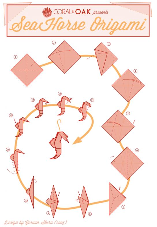 origami shell folding instructions - Google Search