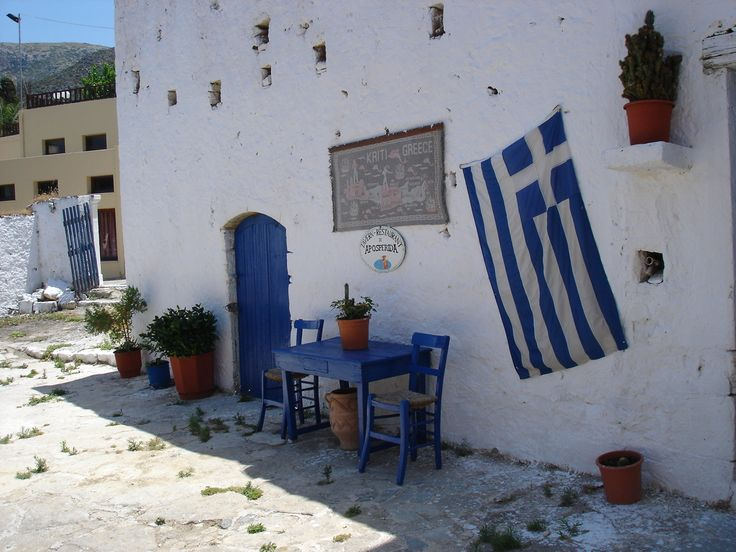 Taverne-Koutouloufari.  Totaly Greece decoration. I love it so much.