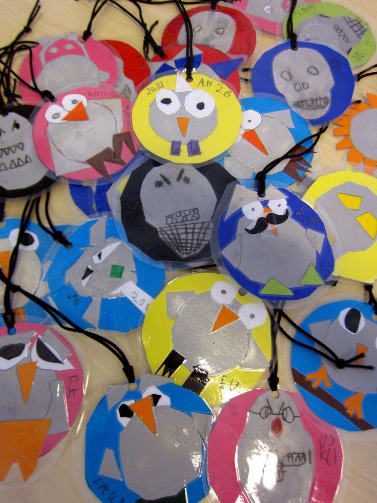Heijastin 2 lk, syksy 2014 Leikkaa, liimaa ja laminoi! Owls and friends