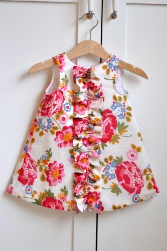Простое платье девочке своими руками