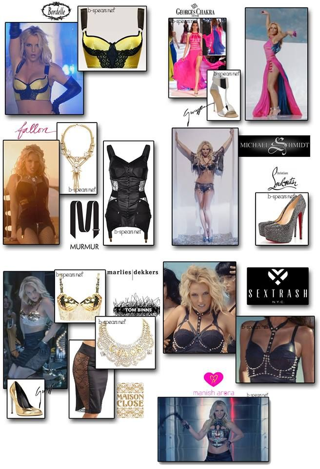 """Britney Spears """"Work Bitch"""" video outfits"""