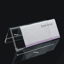 Akrilik toplantı v şekli masası etikel, av- şeklinde pleksiglas fiyat etiketi görüntüleme, masa masa standı boyutu 80x120mm, 10pcs/lot(China (Mainland))