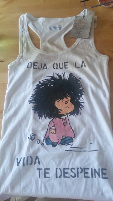 Camiseta mafalda pintada a mano ideas para manualidades - Pinturas para pintar camisetas ...