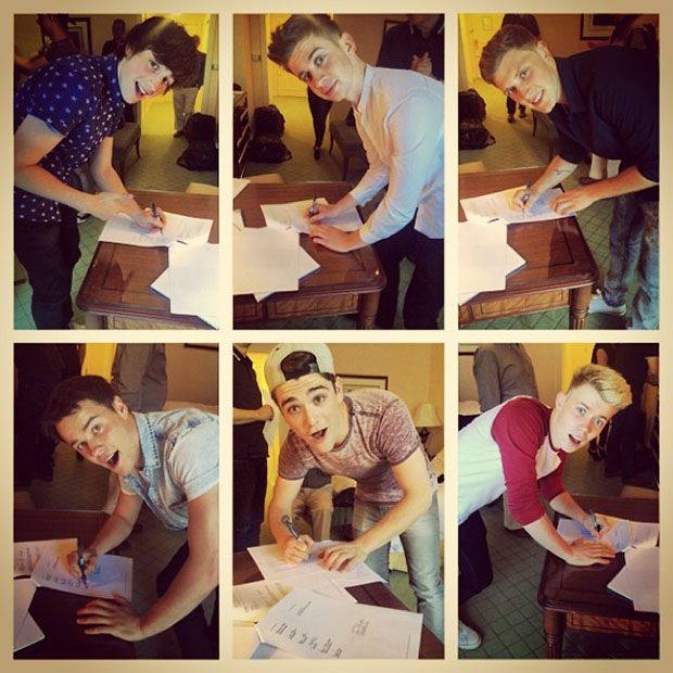 Done deal: Hometown shared this photo of their contract. #hometown