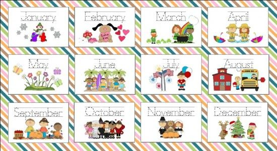 Months of the Year Preschool Printable--going to try to use this ...