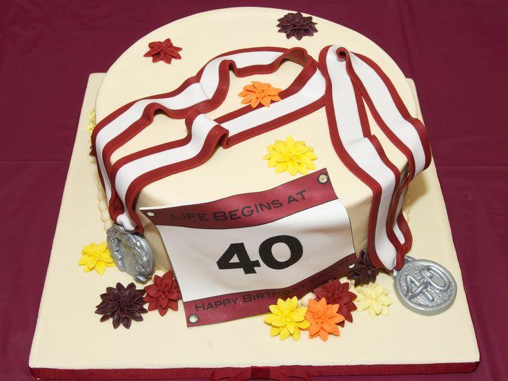 marathon runner inspired birthday cake