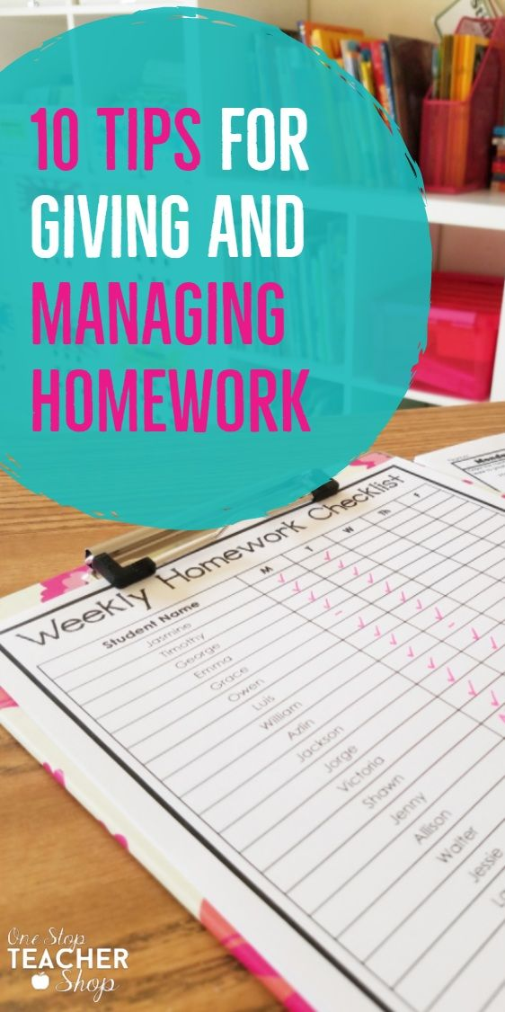 one stop teacher shop weekly homework