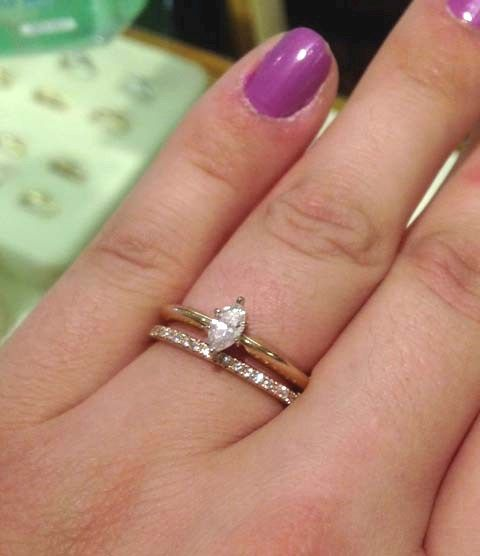 Think engagement ring with a non-matching band, I like it.