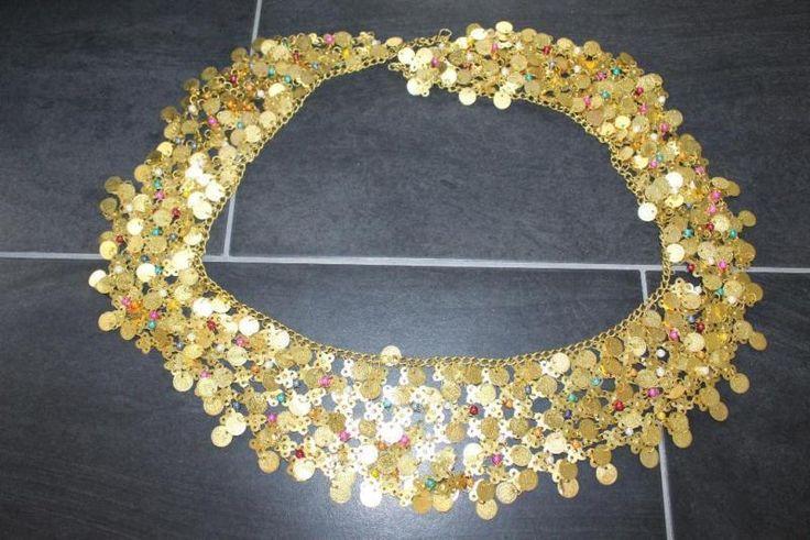 Bauchtanzgürtel gold , Gürtel gold, oriantalisch! S-M verstellbar
