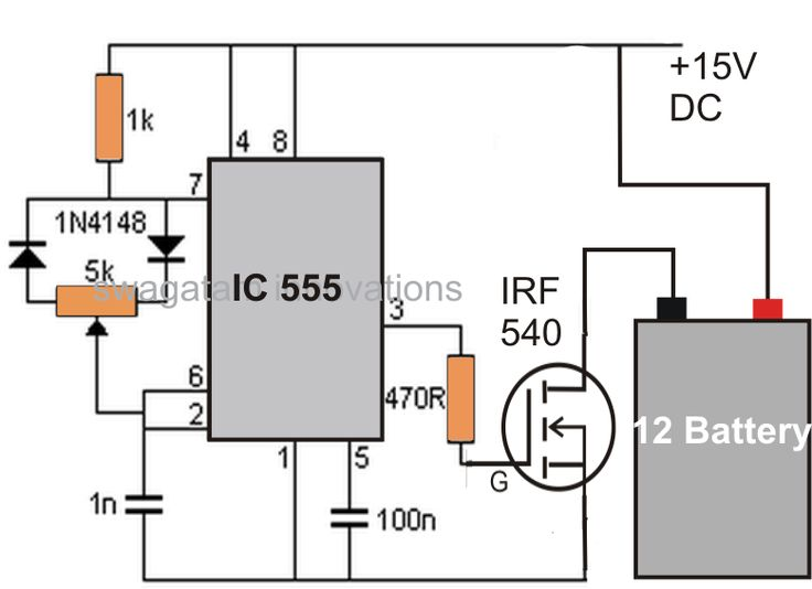 A Simple Circuit Of A Pwm Battery Desulfator Is Explained