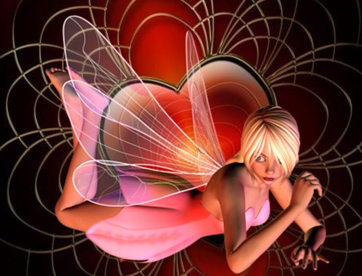 Pink Heart Pixie