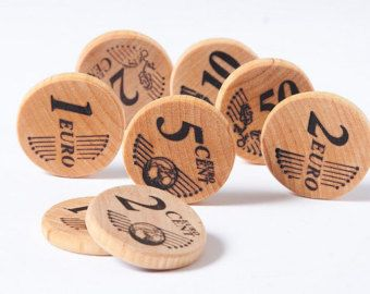 Wooden toy  numbers  eco friendly toy number matching