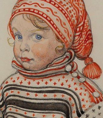 'Little Matts' (detail) - Carl Larsson