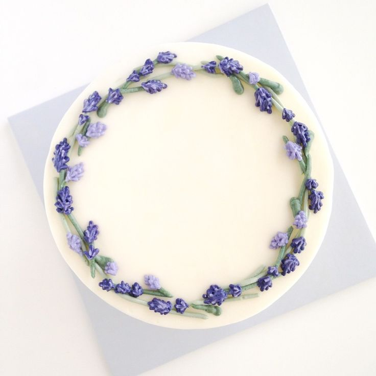 Eat Cake Be Merry - Buttercream lavender wreath cake