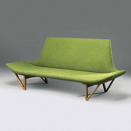 Ejnar Larsen . sofa for Aksel Bender Madsen, 1950s